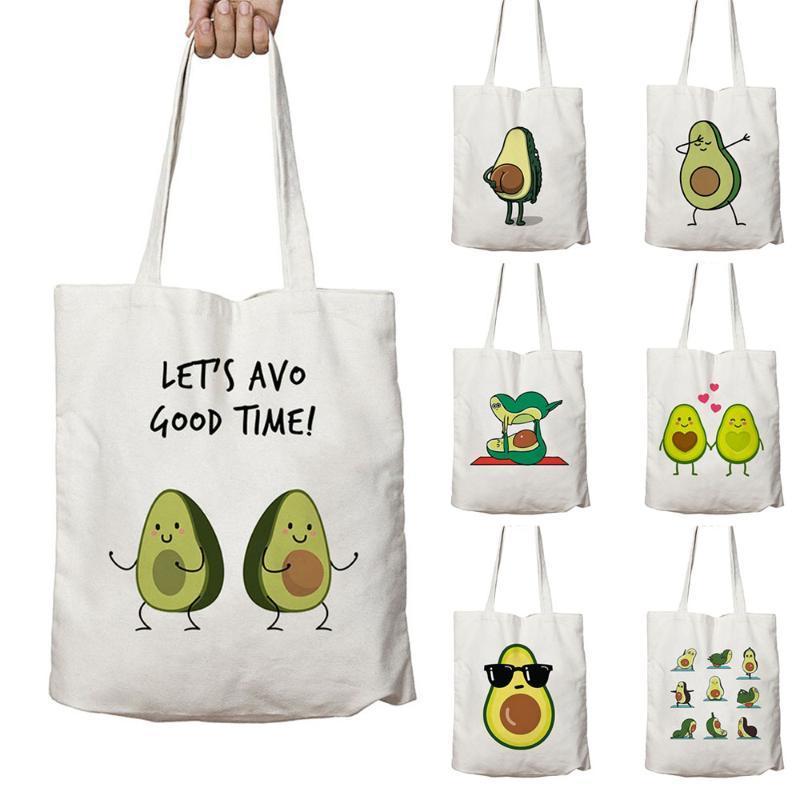 Cute Sport Love Avocado Print Reusable Shopping Bag Women Canvas Tote Bags Printing Eco Bag Cartoon Shopper Shoulder Book Bags Cloth Bags Non Woven Bags From Allinbag 31 53 Dhgate Com