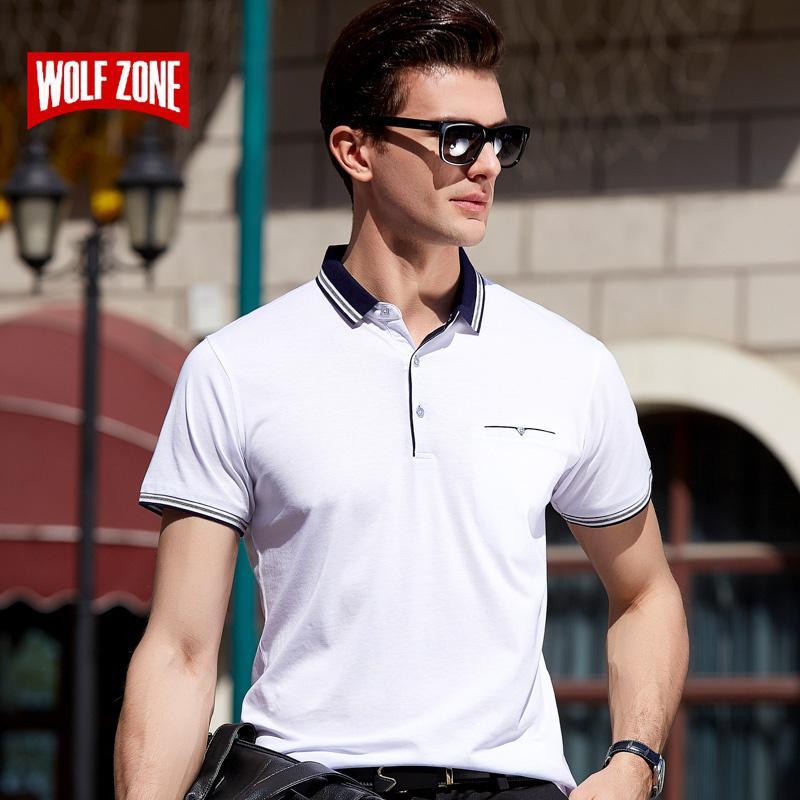 2020 Shirt Männer Marken-Sommer-Herrenmode Baumwolle Slim Fit Kurzarm-Shirts Bürokleidung weißes T-Shirt in Übergrößen