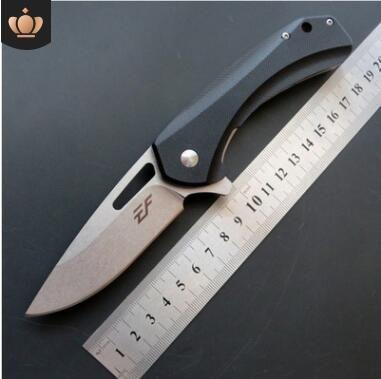 나이프 멀티 도구 포켓 생존 크리스마스 선물 칼을 접는 새로운 도착 EF74 D2 블레이드 G10 핸들 전술 사냥