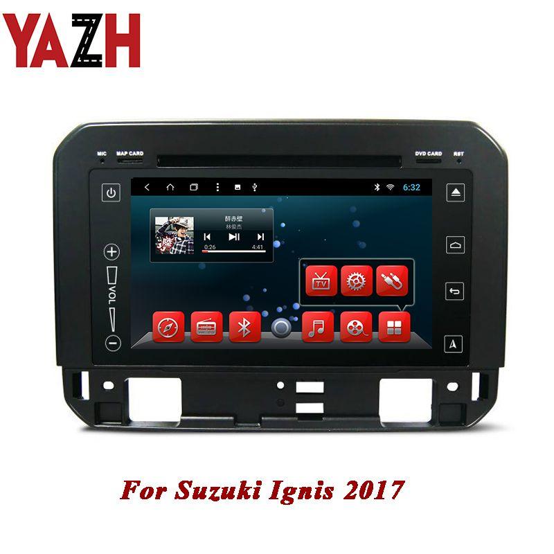YAZH In-Dash 7.0 inch HD autoradio 2GB 32GB Car Stereo GPS Navigation For Suzuki Ignis 2017 Android 8.1 car DVD Player Head Unit