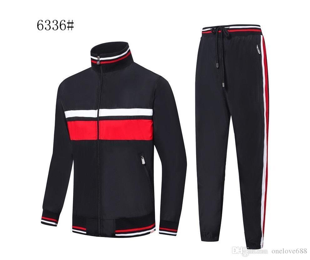 Frankreich 2020 Designer Herren Tracksuits survêtement homme Herbst Winter Herren Sportjacke Zipper Strickjacke Männer Casual Jacke gießen