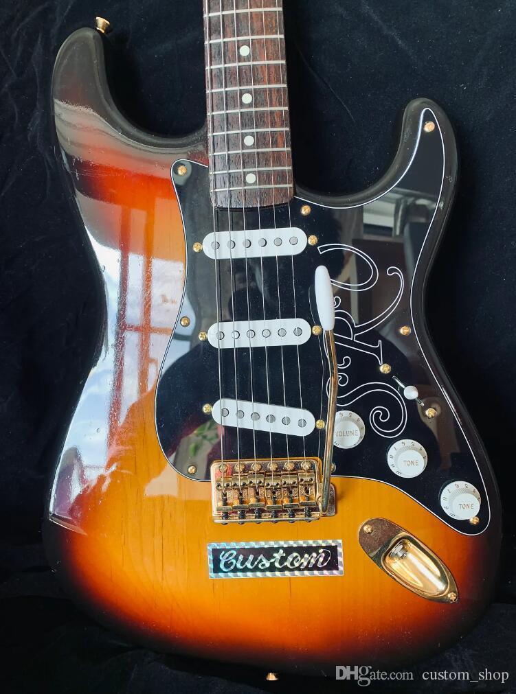 Custom Beautiful Condition Stevie Ray Vaughn Ocaster SRV 1993 Sunburst Electric Guitar 3 Single-Coil Pickups, Gotoh Vintage Tuning Machines