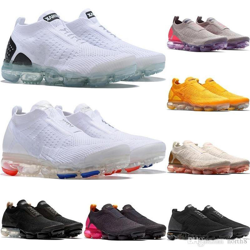 vapormax vapor max air 2019 kissen MOC 2 2.0 FK Herren LACELESS FUTURISM Running Schuhe Herren Shock Jogging für Damen gelb Slip-on Sneakers oreo Größe 36-45