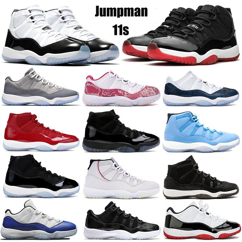 Concord 45 Nike Air Jordan 11 11S Retro XI Platinum Tint Men Scarpe da Basket 11 Bred Space Jam Cap and Gown PRM Sport Donna Sneakers US 5.5-13