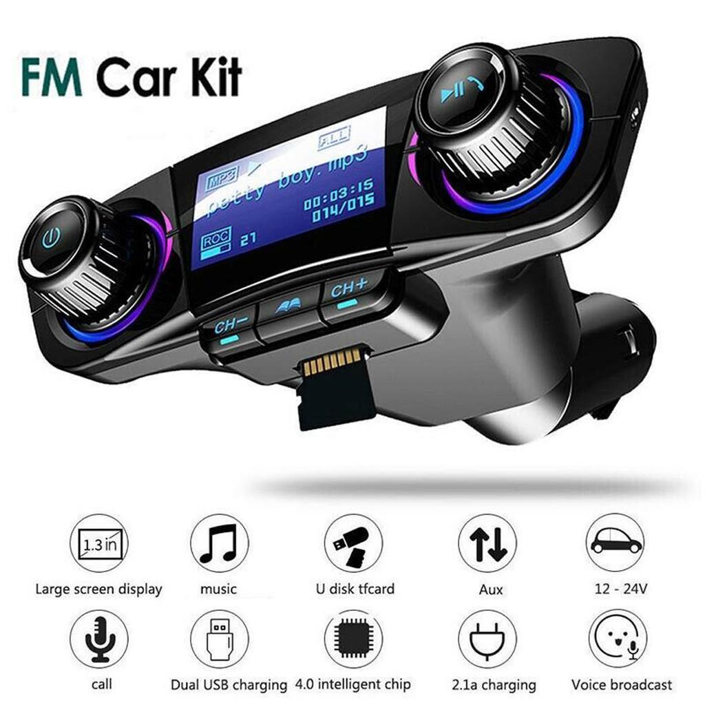 Bluetooth4.2 LCD Wireless Car MP3 FM Transmitter Radio USB Charger Kit Handsfree