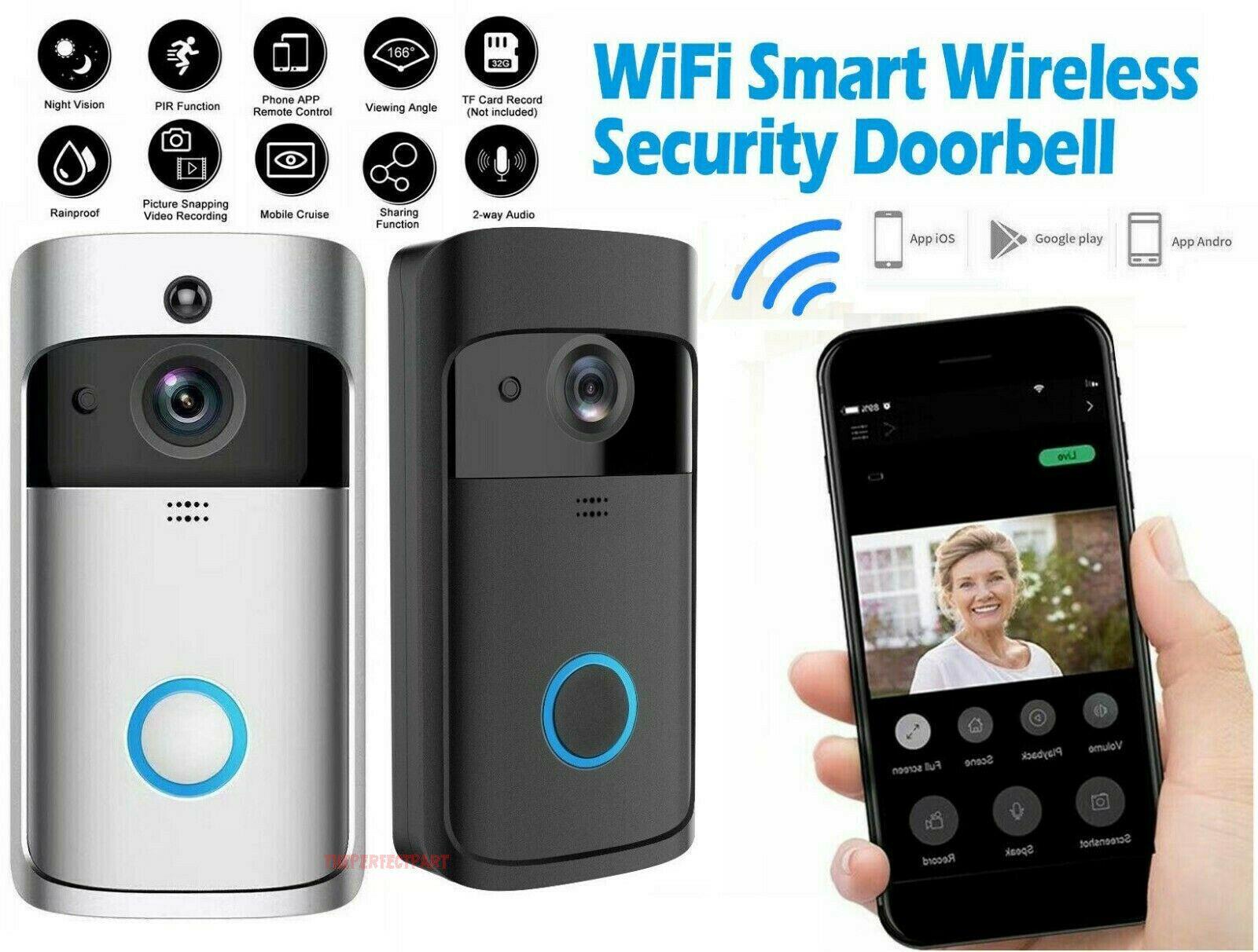 Neues WLAN-WLAN-Video-Türklingel-Smartphone-Türring-Intercom-Sicherheits-Kamera Bell Mobile Remote-Videoüberwachungs-Alarm-Video-Türklingel