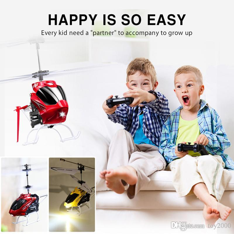 RC drone Syma W25 RC Helicopter 2 CH 2.5 Channel Mini RC Drones With Gyro Crash Resistant Toys Kids Christmas Gift toys