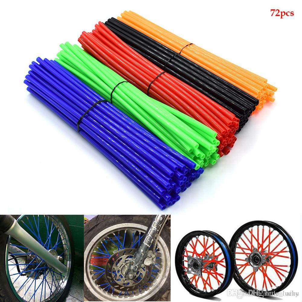 Pour moto pit Dirt Bike Wheel Rim Spoke Housse Wrap tube protecteur pour HONDA CR80R 85R CRF150R CR125R