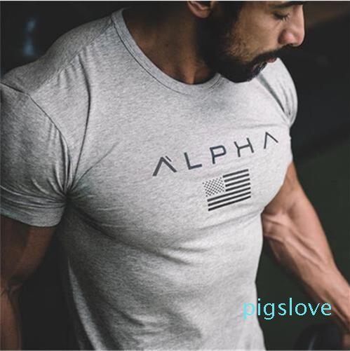 Nouveau Casual Fitness TShirt Hommes Mode Casual Shirt Vêtements Bodybuilding TShirt Gymnases 100% coton Tee-Taille Plus M XXXL Wulong