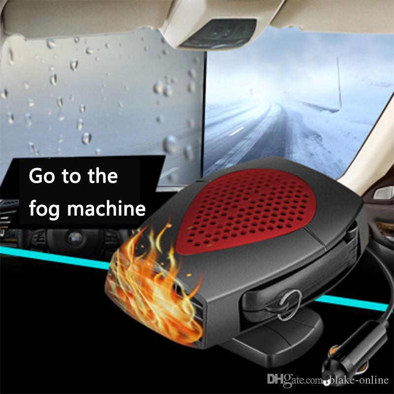 Calentador de coche 12 V 150 W con funci/ón de refrigeraci/ón y calefacci/ón color rojo apto para tipos generales de coches calentador de parabrisas 2 en 1 que se conecta al encendedor de cigarrillos