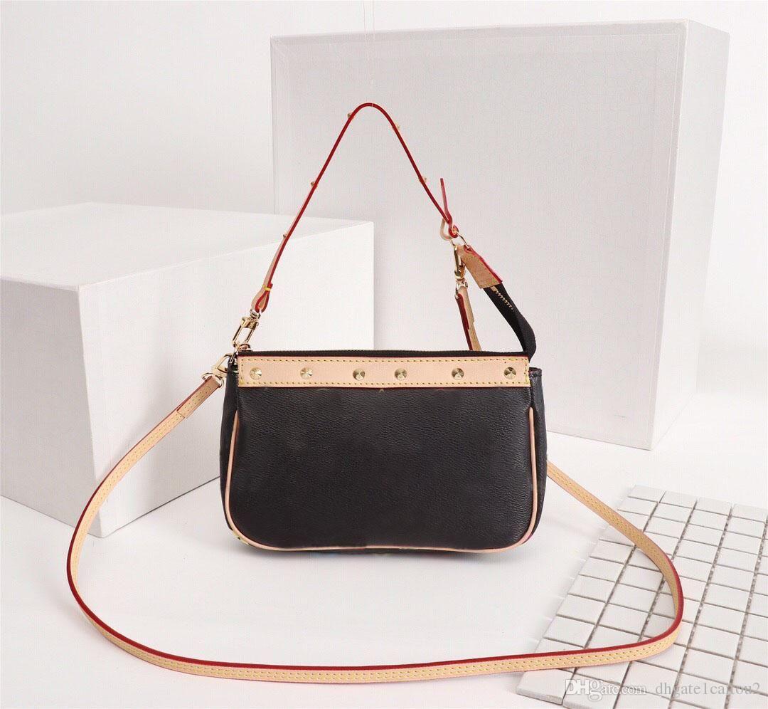 الأصلية عالية الجودة مصمم أزياء فاخرة حقائب المحافظ خمر حقيبة المرأة العلامة التجارية نمط كلاسيكي جلد طبيعي حقائب الكتف