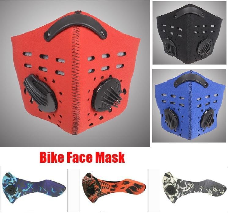 New PM2.5 Biking-Antistaub-Bike Gesicht Carbon-Reiten Radfahren Aktiv Maske Radfahren Laufen Anti-Pollution Bike Maske mit Filter XHH7-1388