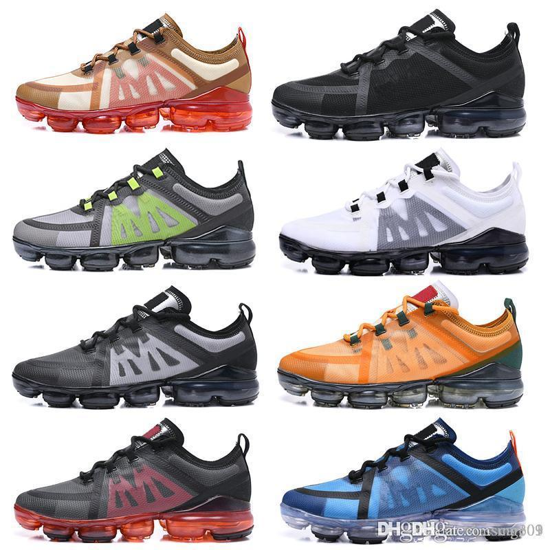 nike Vapormax air max airmax 2019 Run Utility Hommes Chaussures De Course Meilleure Qualité Noir Anthracite Blanc Reflète Argent Remise Chaussures Sport Baskets Taille 40-45