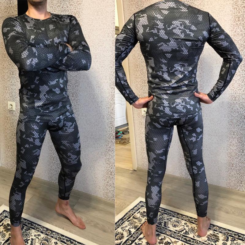 Men's Fitness Running Tights Gym training pants Camouflage Tracksuit Compression pants Jogging clothing leggings rashgard men