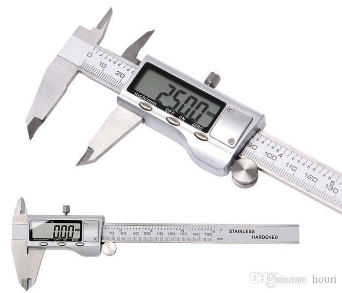 """الفرجار الرقمية 0-150mm 6 """"/ 0-200 / 0-300mm الفولاذ المقاوم للصدأ المعادن الفرجار الغلاف الرقمية VERNIER الفرجار GAUGE ميكرومتر الفرجار الالكترونية"""