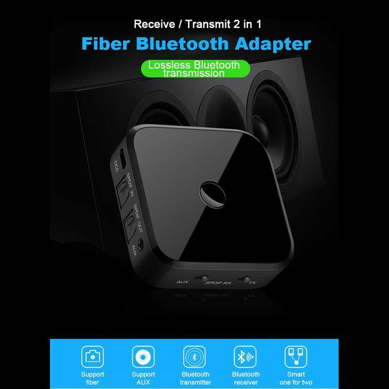 بلوتوث 5.0 الارسال والاستقبال الرقمية كيبلات بصري و 3.5mm محول الصوت اللاسلكي للتلفزيون الرئيسية ستيريو نظام aptX منخفض الإختفاء