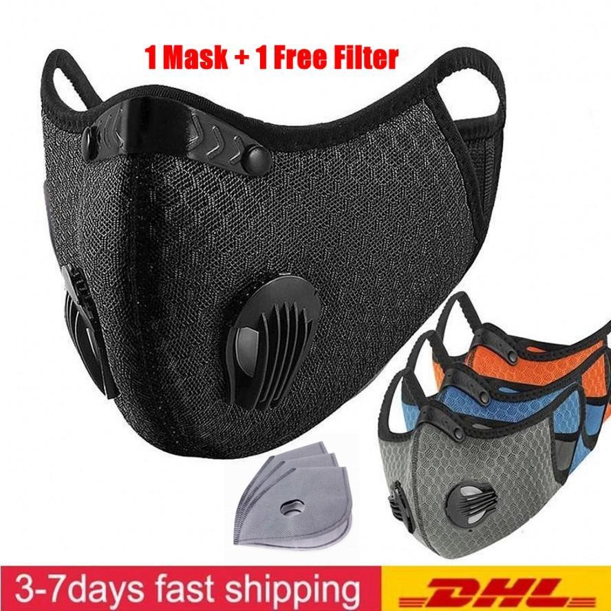 UPS DHL Luxury задействуя маска Активированный уголь с фильтром РМ2,5 Anti-Загрязнения Спорт Запуск Обучение Защита от пыли Маска Анти-капельку