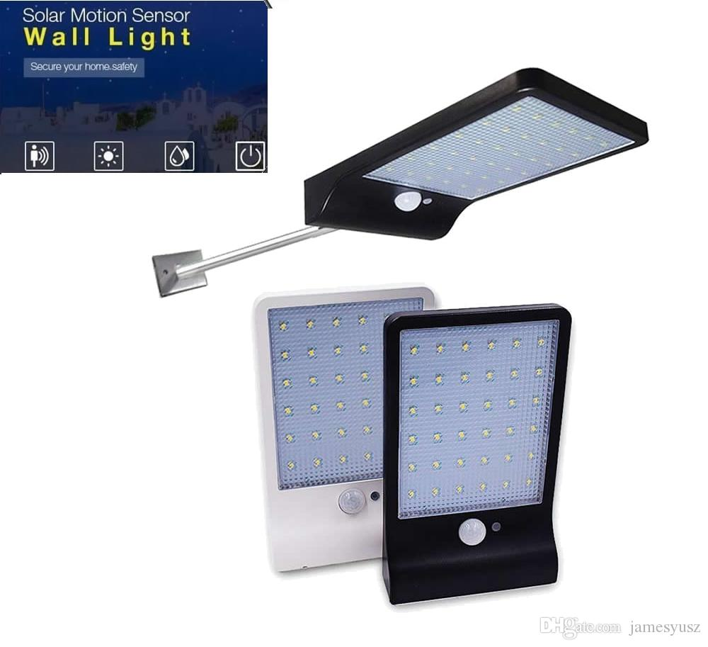 Aluminum pole 48/36 LED Solar 3 Mode Motion Sensor Wireless Solar Power Lamp Floodlight Garden Spotlight Outdoor street Wall La for yard gar