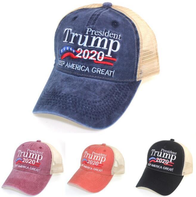 Оптовая Keep America Great 2020 Hat Trump Дональд Вышитых бейсболки Hat Регулируемых США кампании Trump Спорт бейсболка BY1528