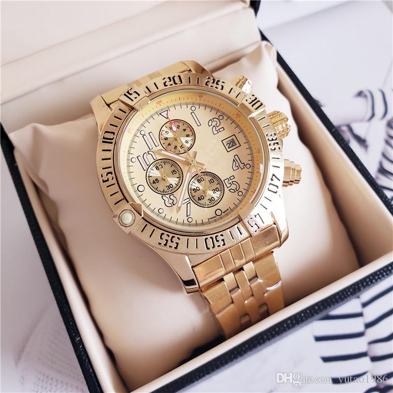 New Brand Men's Wristwatch Stainless Steel Full Function Chronograph Gent Wristwatch All SUB work quartz 1884 watches