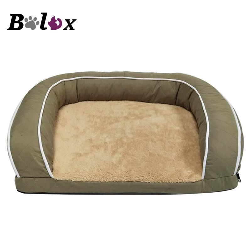 Pet Sofa Dog Beds For Large Dogs Thicken Warm Fleece Cat Bed House Winter Dog Sofa Golden Retriever SH190926