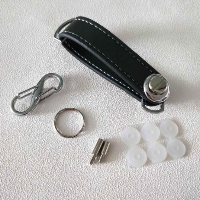 Caso chiave dell'automobile del sacchetto del sacchetto del supporto del raccoglitore raccoglitore chiave catena anello collettore Governante EDC Pocket Key Organizer intelligente dei pellami portachiavi