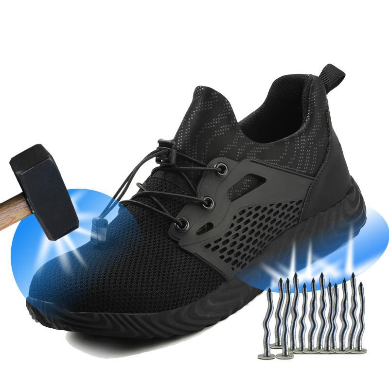 Toe Moda exterior botas de segurança de aço de homens Yuxiang Indestructible Sapatos de trabalho de protecção de punção sapatos de segurança Proof Sneakers