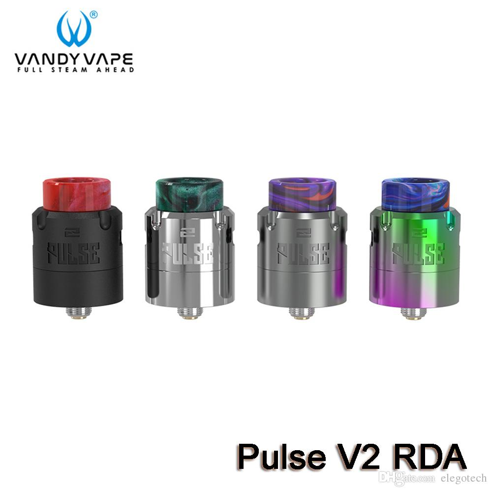 Vandy Vape Pulse V2 RDA Atomizer Support Single Dual Coils Building Top Squonk Feeding PEI Airflow Ring + 2 rings 100% Authentic VandyVape