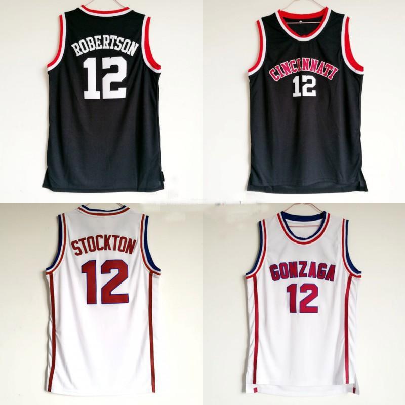 NCAA أوسكار روبرتسون جيرسي 12 جامعة كرة السلة سينسيناتي Bearcats كلية الفانيلة الرجال اللون الأسود تنفس للرياضة المشجعين بيع