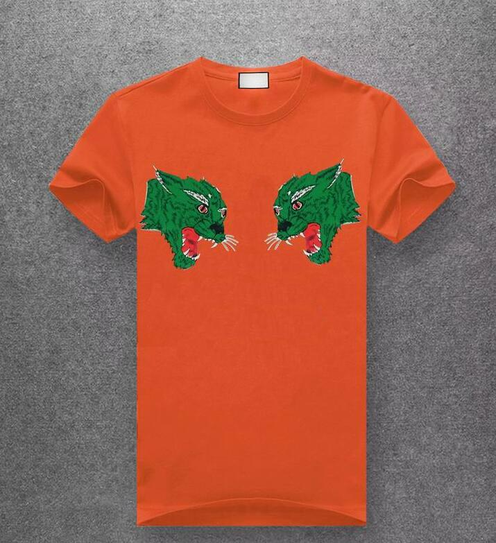 Manica corta T-shirt T-shirt di moda estate Costume Due modello della tigre casuale degli uomini europeo ad alto cotone degli uomini di stile di qualità di 10 colori