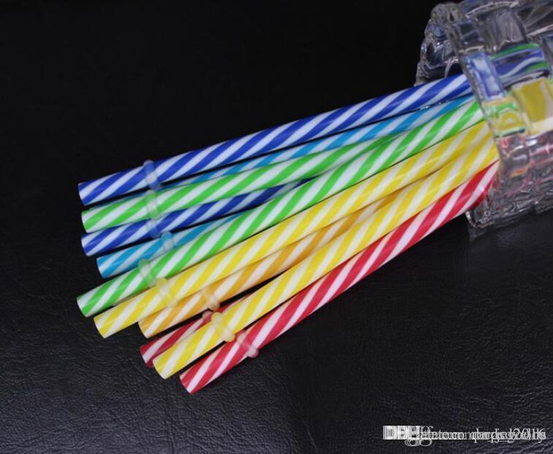 Toptan Satış - 100 Adet Kullanımlık Biyobozunur Bozuk Renkler İçecek Sert Plastik Şerit içme Payet