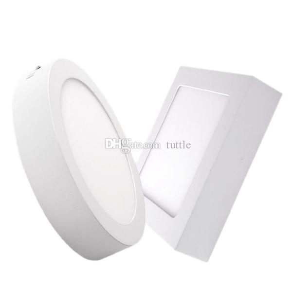 Dim 9W 15W 21W Yuvarlak / Kare Led Panel Işık Sıvaüstü Led Sıva aydınlatma Led tavan spot ücretsiz gönderim
