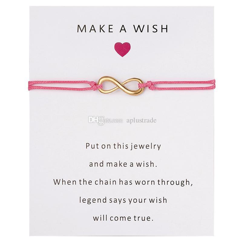 2020 Faire un souhait infini Bracelet Femmes Hommes Bonne chance Charm Bracelet en gros Bracelets Livraison gratuite