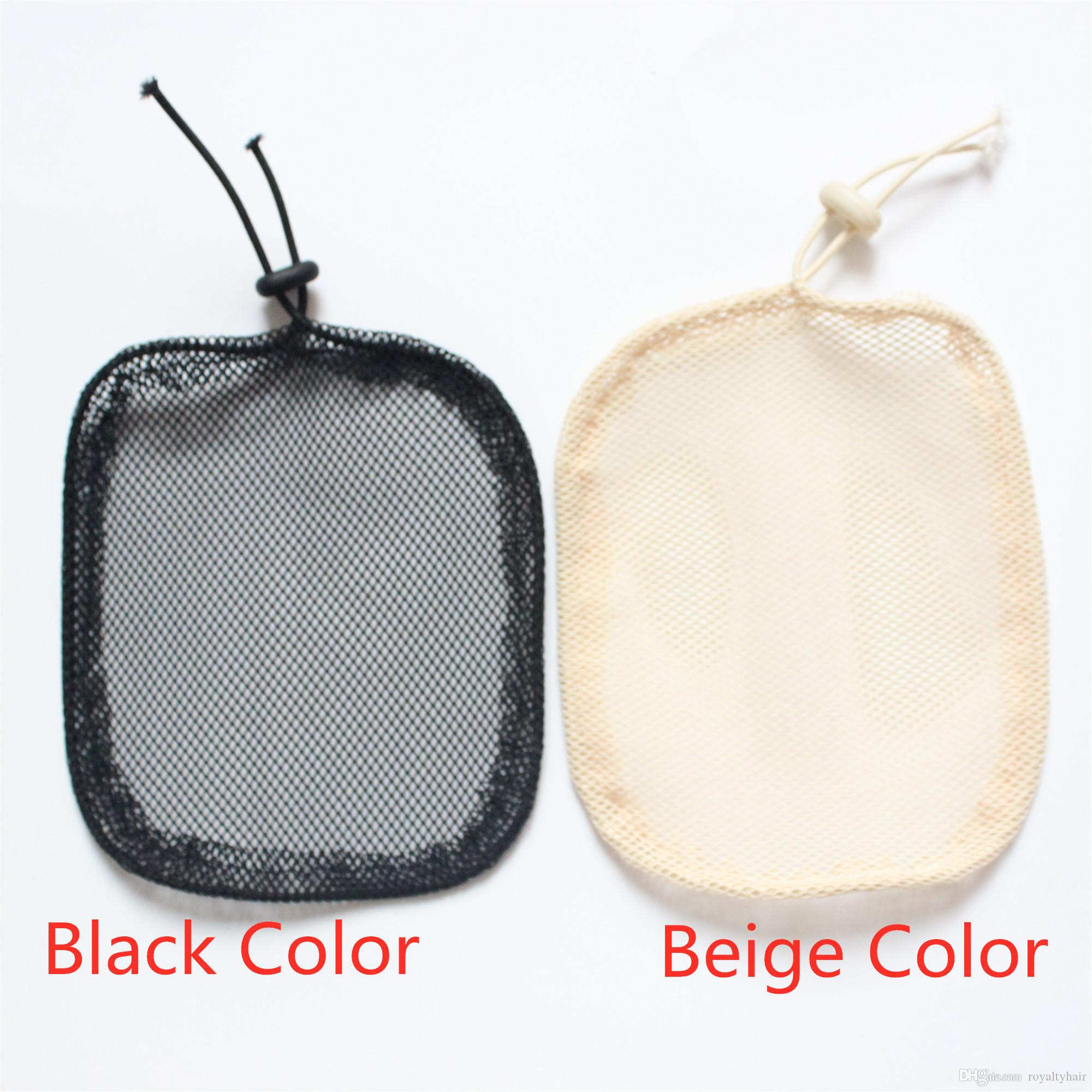 글루리스 머리 그물 가발 라이너 블랙 / 베이지와 포니 테일 스판덱스 그물 탄성 머리 그물을 만들기위한 저렴한 모자
