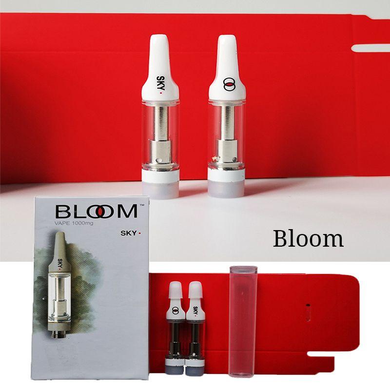 Bloom Vape Pen Cartridges Packaging 0.8ml Ceramic Atomizer Vape Empty Carts Thick Oil Cart 510 Thread