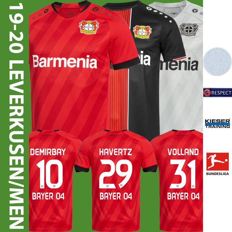 Acquista 19 20 Giocatori Bayer 04 Leverkusen Fußball GmbH DEMIRBAY HAVERTZ Volland Casa E Fuori Magliette Da Calcio Terzo Maglia Di Calcio A Manica ...