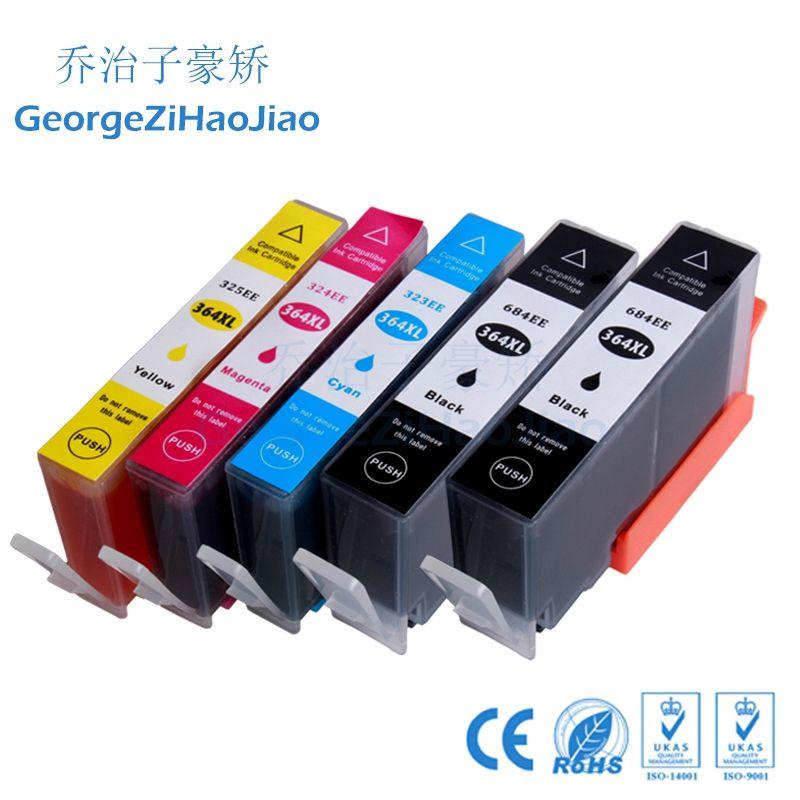 ZH 5 ADET Mürekkep Kartuşları 364XL 2BK Uyumlu HP364 Photosmart B210 HP B8550 C53244 C5380 C63244 C6380 D5460