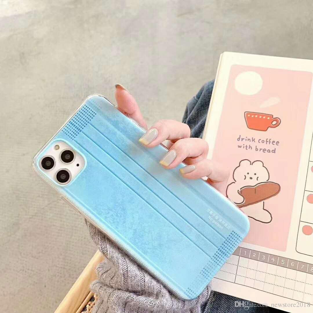 Face Masks Soft TPU Case For IPhone 11 Pro Max XR XS MAX X 8 7 Plus Silicone Face Mouth Masks Mask Style Phone Cover Skin newstore news