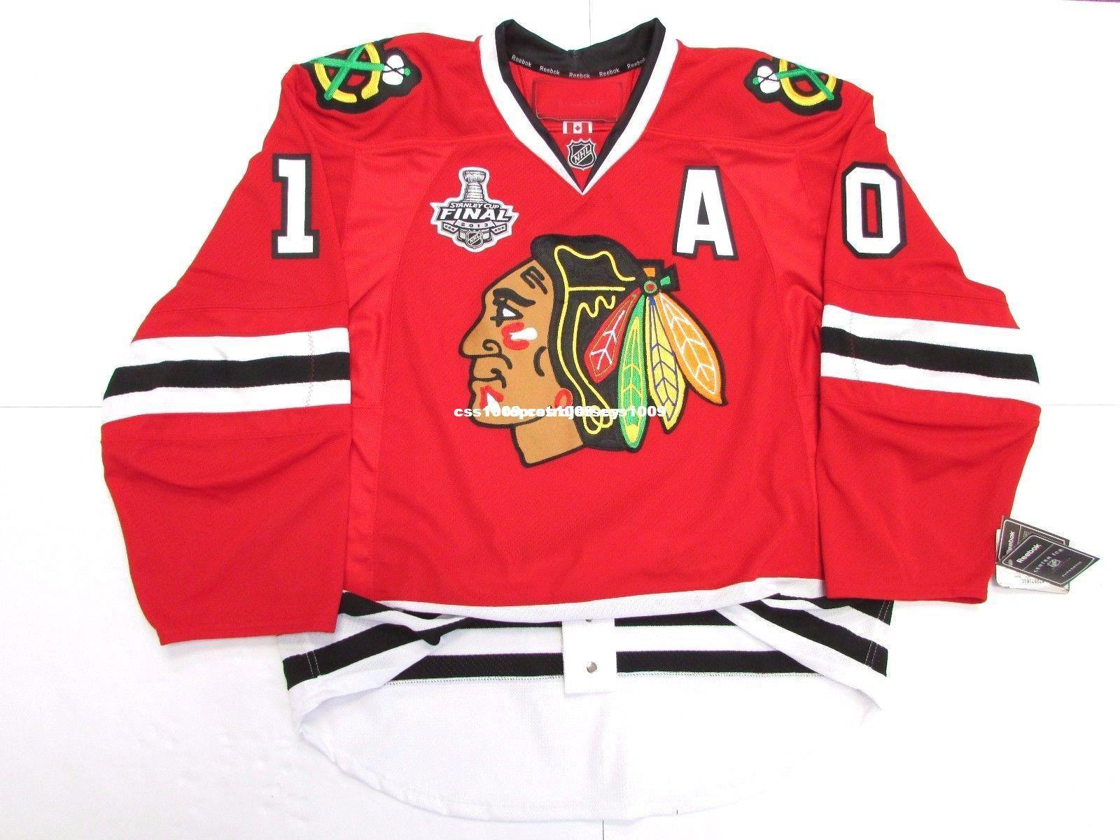 Cheap custom SHARP CHICAGO BLACKHAWKS HOME 2013 STANLEY CUP FINAL JERSEY stitch add any number any name Mens Hockey Jersey XS-6XL
