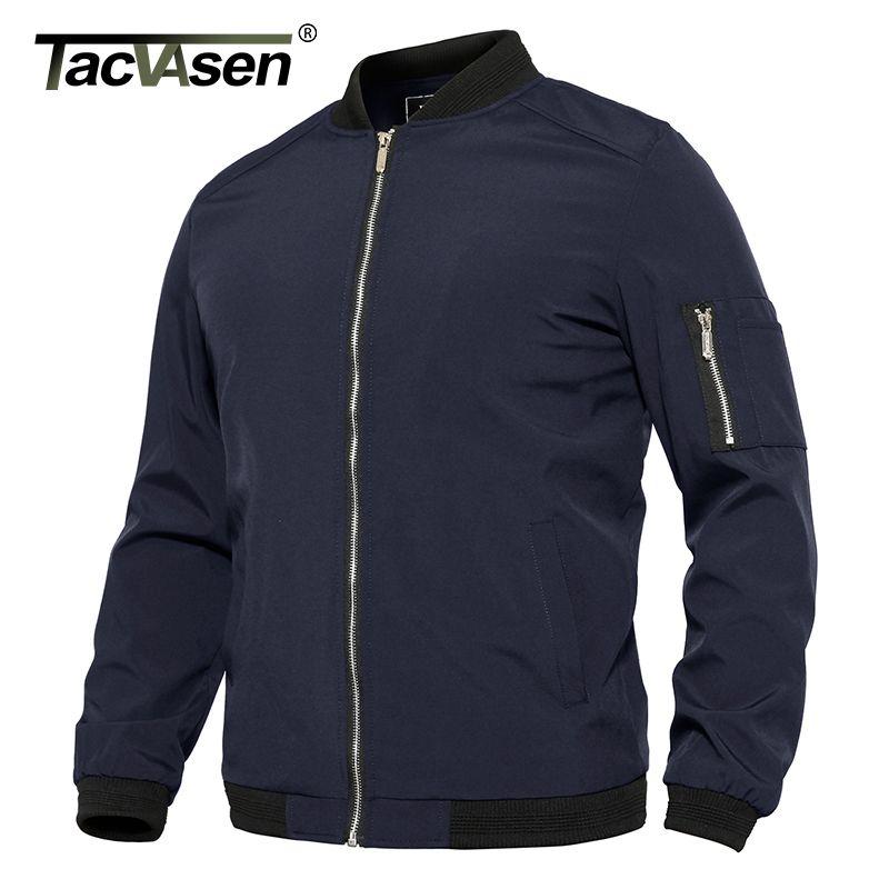 TACVASEN летняя бейсбольная куртка мужская Slim Fit легкая летная бомбардировочная куртка пальто весна осень повседневная Университетская куртка верхняя одежда T200502