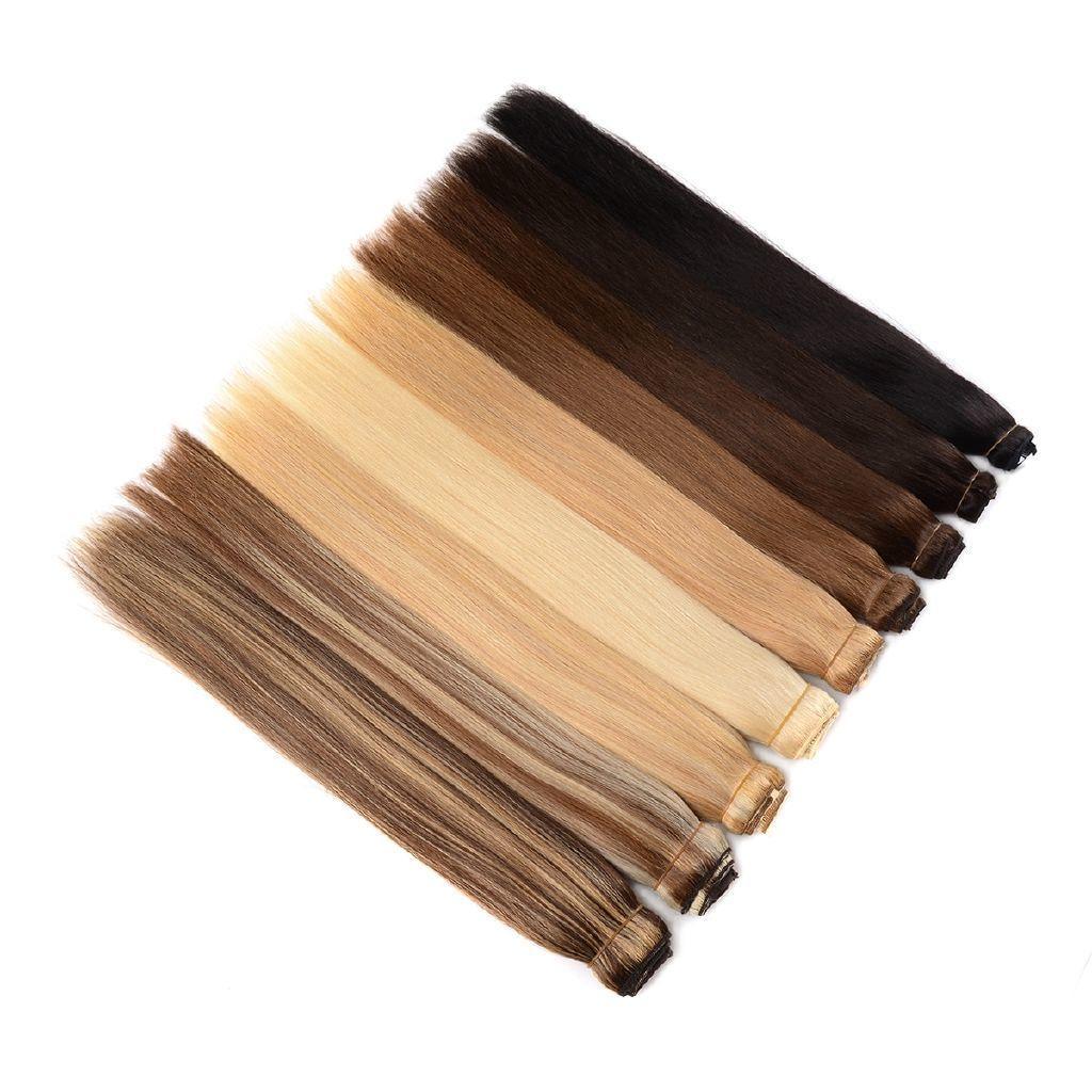 Wondero 150g 1 adet Brezilyalı Haire 18 tek parça İnsan Saç Uzantıları 26 Makine Halısı Remy Kıllı Düz Clip