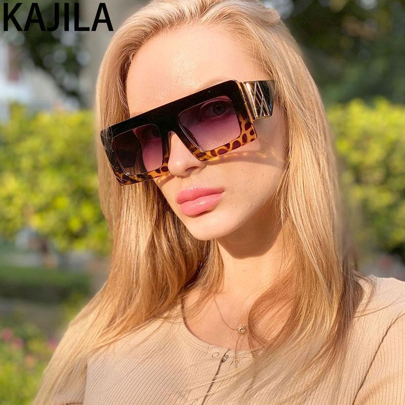 Sonnenbrille Ankunft Übergroße Frauen Vintage Neue Gläser 2020 Frau Großer Rahmen Spiegel Sonnenschirme für Square Bedbn