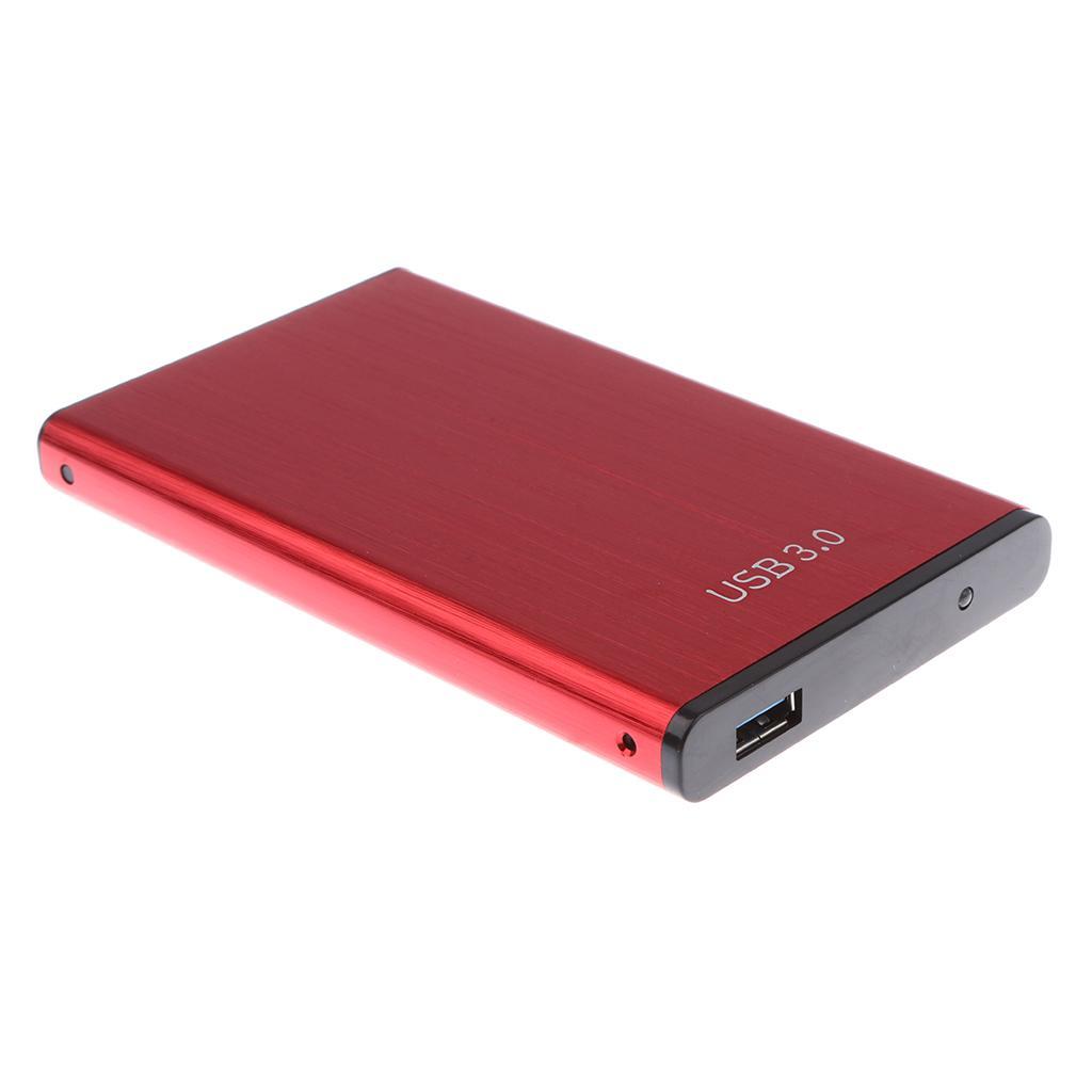 حالة الألومنيوم 2.5 بوصة القرص الصلب SATA SSD الخارجية صندوق ضميمة لأجهزة الكمبيوتر المحمول