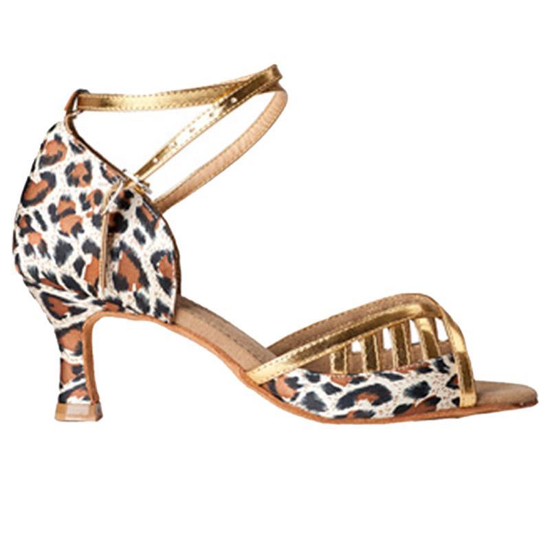 XSG специальный латинский танец обувь новый подлинный Леопард атласная девушки с площади танцевальная обувь латинский танец женщин носить Латинской обувь мягкой