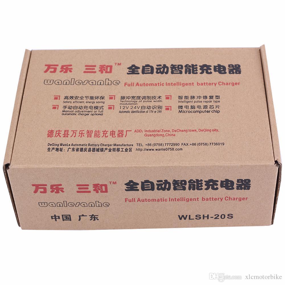الجملة-أحدث 110 فولت / 220 فولت بطارية السيارة الكهربائية التلقائي بالكامل شاحن ذكي نبض إصلاح نوع شاحن بطارية 12 فولت / 24 فولت 100AH