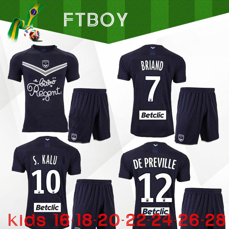 20 21 maillots de foot Girondins de Bordeaux kids kit soccer jerseys 2020 2021 BRIAND S.KALU KAMANO ui jo BENITO DE child set football shirt