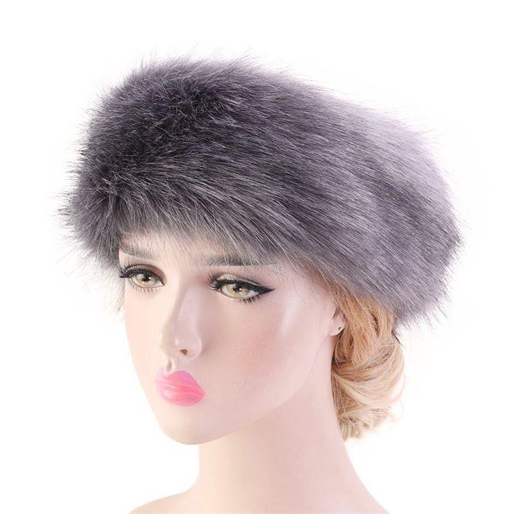 7 couleurs des femmes en fausse fourrure d'hiver bandeau femmes luxe wrap tête de mode peluche Earmuffs Cover accessoires pour cheveux en gros KJY865