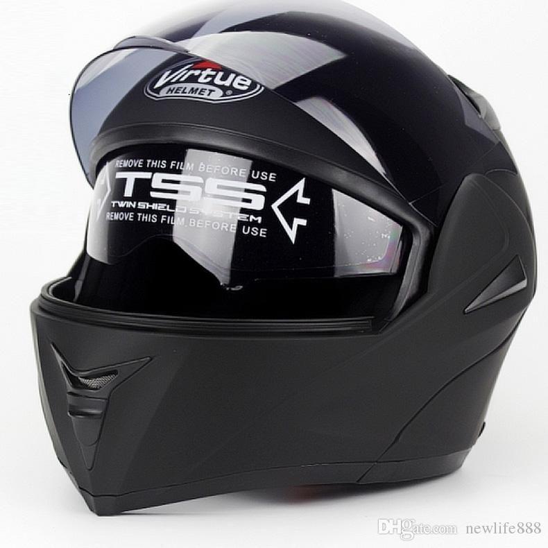 New 808 Flip Up Racing helmet Modular Dual lens Motorcycle Helmet full face Safe helmets Casco capacete casque moto M L XL