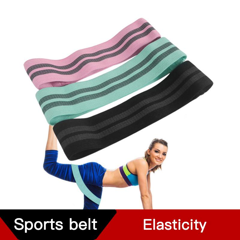 Freies DHL 2020 Widerstandsschleife Übungsbänder Workout Bands für Physiotherapie, Beine, Po, Home Fitness Stretching Baumwolle Yoga Band M429F