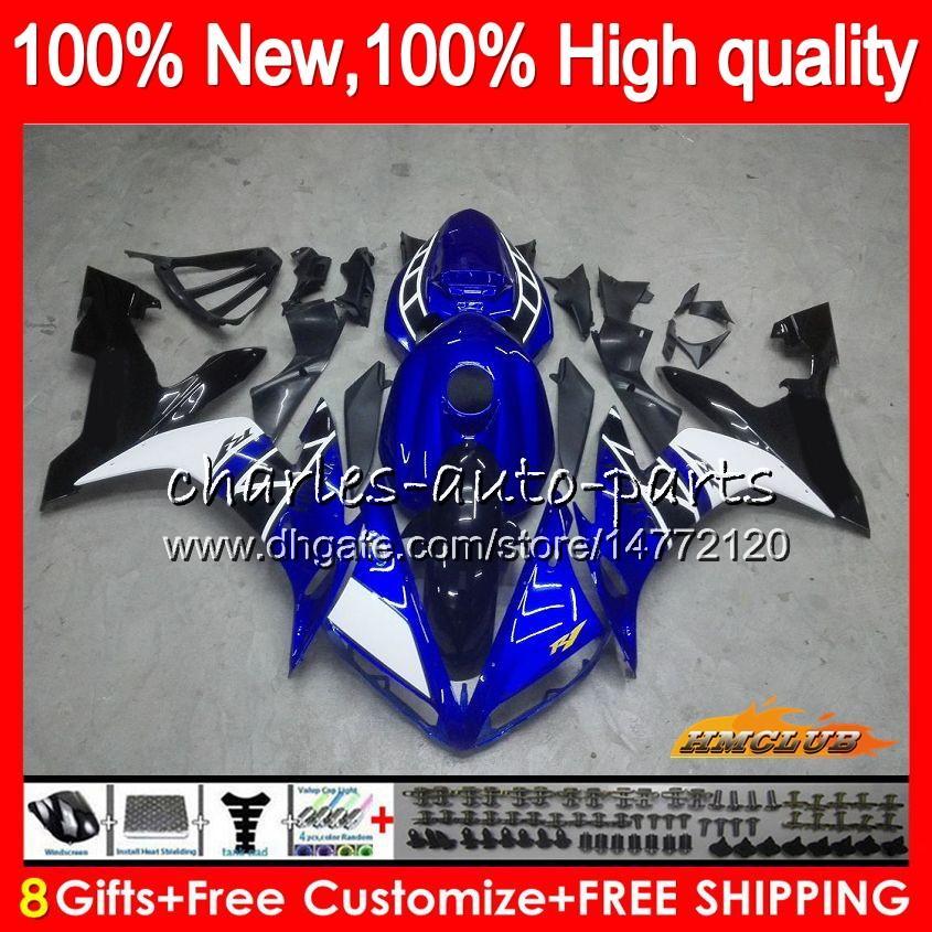 Corpo Per YAMAHA blu nero nuovo YZF1000 YZF R 1 1000 CC YZF1000 1000CC 63HC.20 YZF R1 04-06 YZFR1 YZFR1 04 05 06 2004 2005 2006 carenatura kit